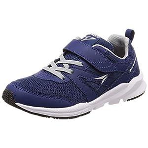 [シュンソク] 運動靴 通学履き 瞬足 幅広 衝撃吸収 17~24.5cm キッズ 男の子 女の子 ネービー 20 cm 3E