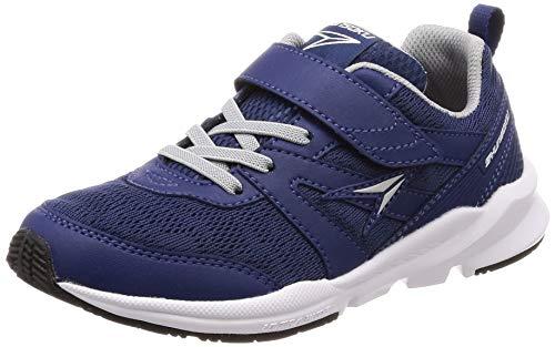 [シュンソク] 運動靴 通学履き 瞬足 幅広 衝撃吸収 17~24.5cm 3E キッズ 男の子 女の子 ネービー 21.5 cm
