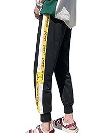 8cdd1d9c8716ba BOXUANメンズ ロングパンツ 夏9部丈 薄手 無地 おしゃれ ゆったり スーパーストレッチ スウェットズボンカジュアル