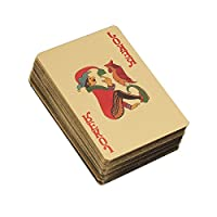 toymytoyゴールド箔Playing CardsメッキBuri al Arabポーカーテーブルゲームジョーカーデッキ(ゴールド)