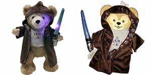 【 ディズニー タオル セット 】 正規品 最新 DISNEY Duffy USA WDW 限定 ディズニー ダッフィー ぬいぐるみ スターウォーズ STARWARS ジェダイ コスチューム ボタンを押すと ライトセーバー が 光る Duffy Bear Star Wars Jedi Clothes 日本未発売 グッズ プレゼント f02600a