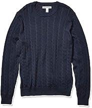 Amazon Essentials (アマゾン エッセンシャルズ) メンズ クルーネック ケーブル コットン セーター