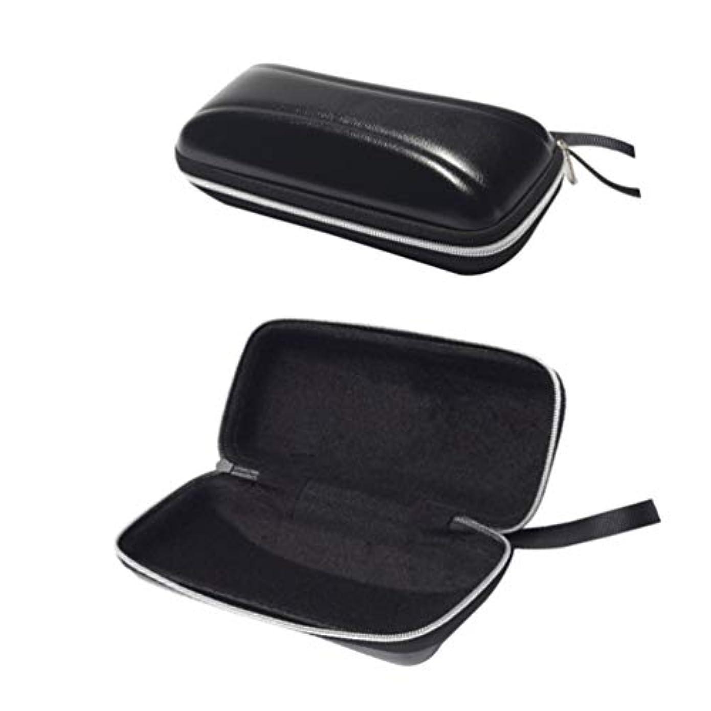 安心バンジージャンプかけがえのないSUPVOX ハードシェルサングラスケース保護用ハードメガネケースpuジッパー付き旅行用2pcs