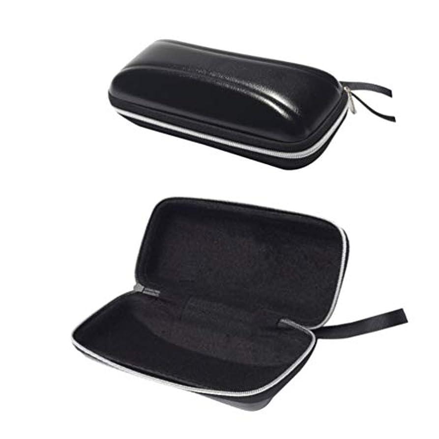 間違っている伝統是正SUPVOX ハードシェルサングラスケース保護用ハードメガネケースpuジッパー付き旅行用2pcs