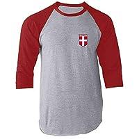 Denmark Soccer Retro National Team Raglan Baseball Tee Shirt