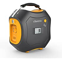 cheero Energy Carry 500Wh (139,200mAh) 大容量ポータブル電源【AC/DC/USB出力】 モバイルバッテリー アウトドア/災害/緊急用 AC100V付き 正弦波 静音 LEDライト付き