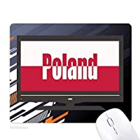ポーランド国の旗の名 ノンスリップラバーマウスパッドはコンピュータゲームのオフィス