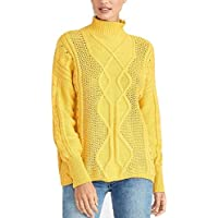 Rachel Rachel Roy Chunky Cable-Knit Sweater Gold Size Large