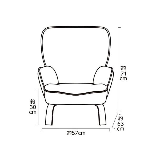 【セット買い】脚付き座椅子 なごみインテリアチ...の紹介画像4
