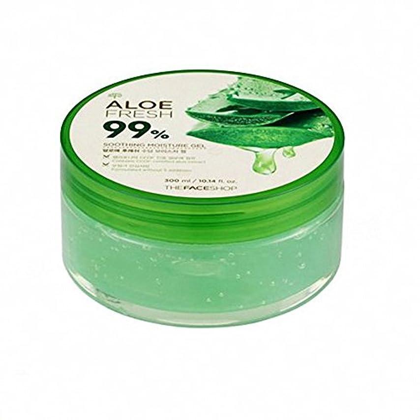 ヘッドレス風邪をひく褐色ザ·フェイスショップ The Face Shopアロエフレッシュスージングモイスチャージェル(300ml) The Face Shop Aloe Fresh Soothing Moisture Gel 300ml [海外直送品]