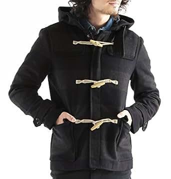 メルトンウールダッフルコート ダッフルコート ダッフル ジャケット コート メンズ XLサイズ ネイビー×チャコールグレー