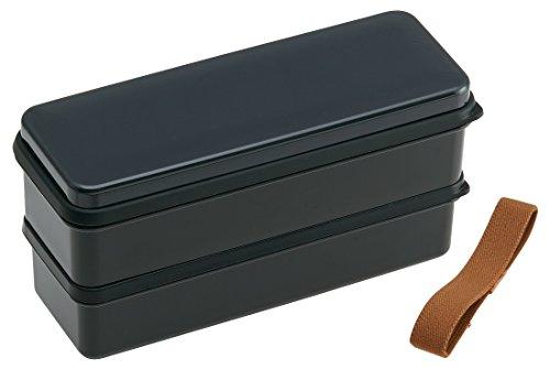 SSLW9 シリコン製シールブタ2段ランチボックス メンズ アースカラー ブラック スケーター