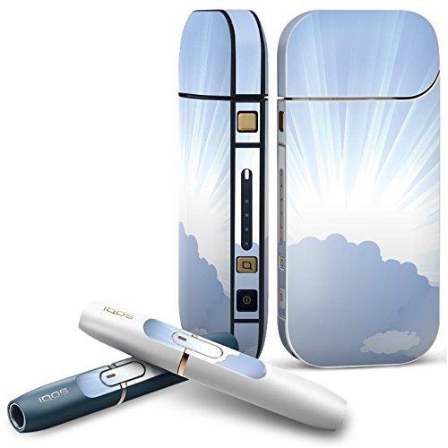 iQOS 2.4 plus 専用スキンシール COMPLETE アイコス 全面セット サイド ボタン スマコレ チャージャー カバー ケース デコ その他 雲 太陽 001411