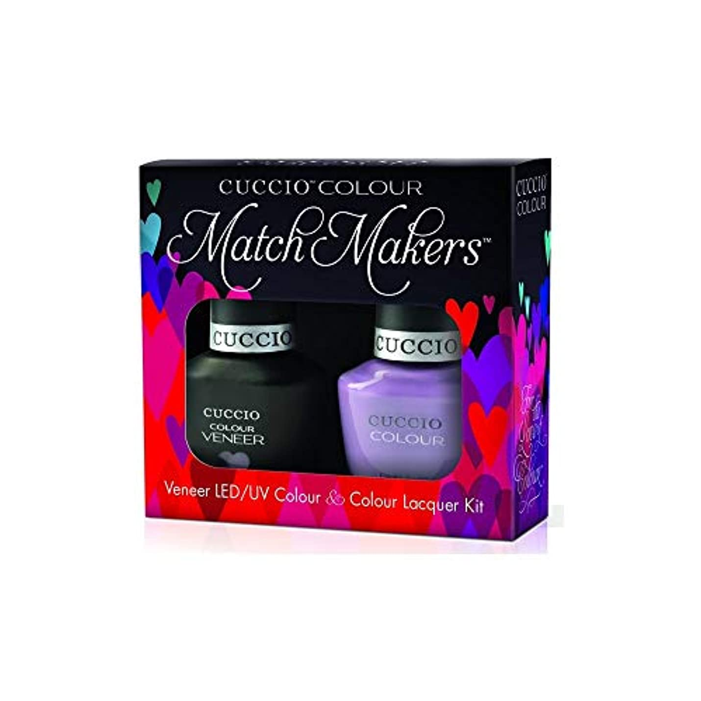 強化する匿名紳士気取りの、きざなCuccio MatchMakers Veneer & Lacquer - Peace, Love & Purple - 0.43oz/13ml Each