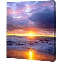 カリフォルニア、San Diego Sunset Cliffsビーチby Christopher Talbot Frank – ギャラリーWrapped Gicleeキャンバスアートプリント – Ready To Hang 10