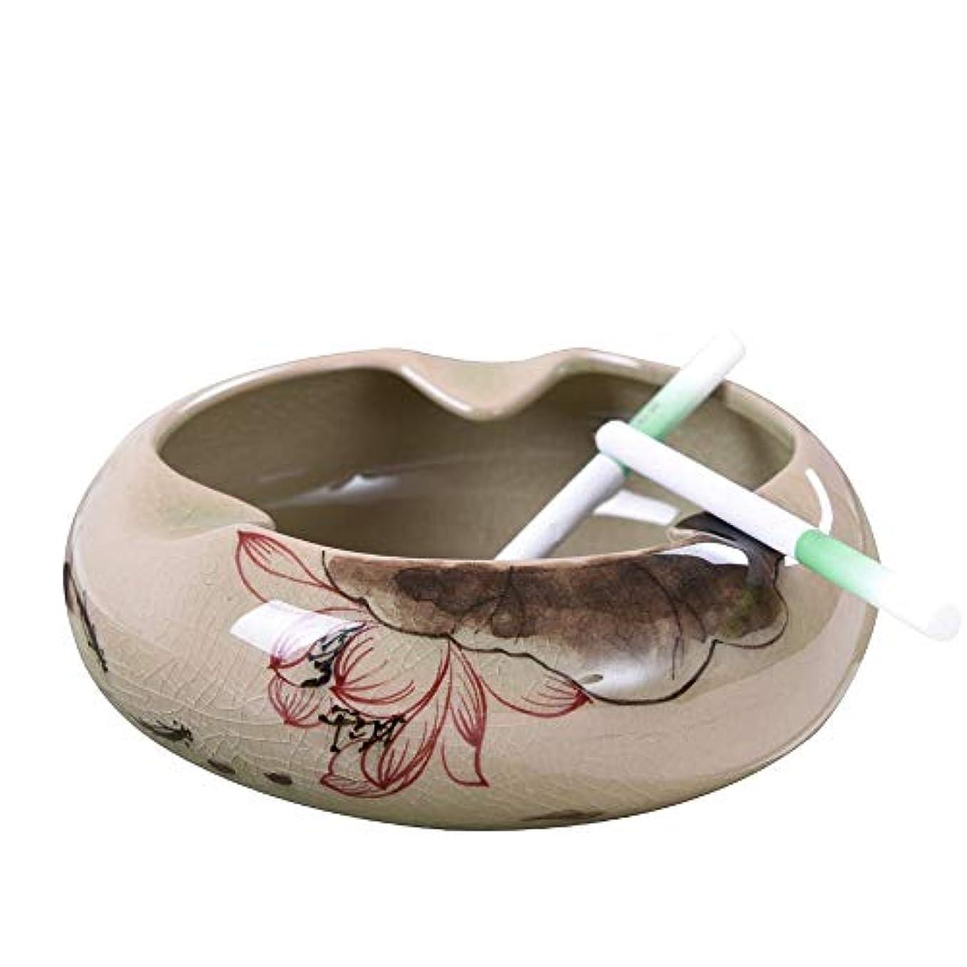 パン屋証拠衰えるセラミック灰皿中国のレトロな手描きの創造的な人格の傾向中国風のリビングルームのコーヒーテーブルホームふた付き灰皿
