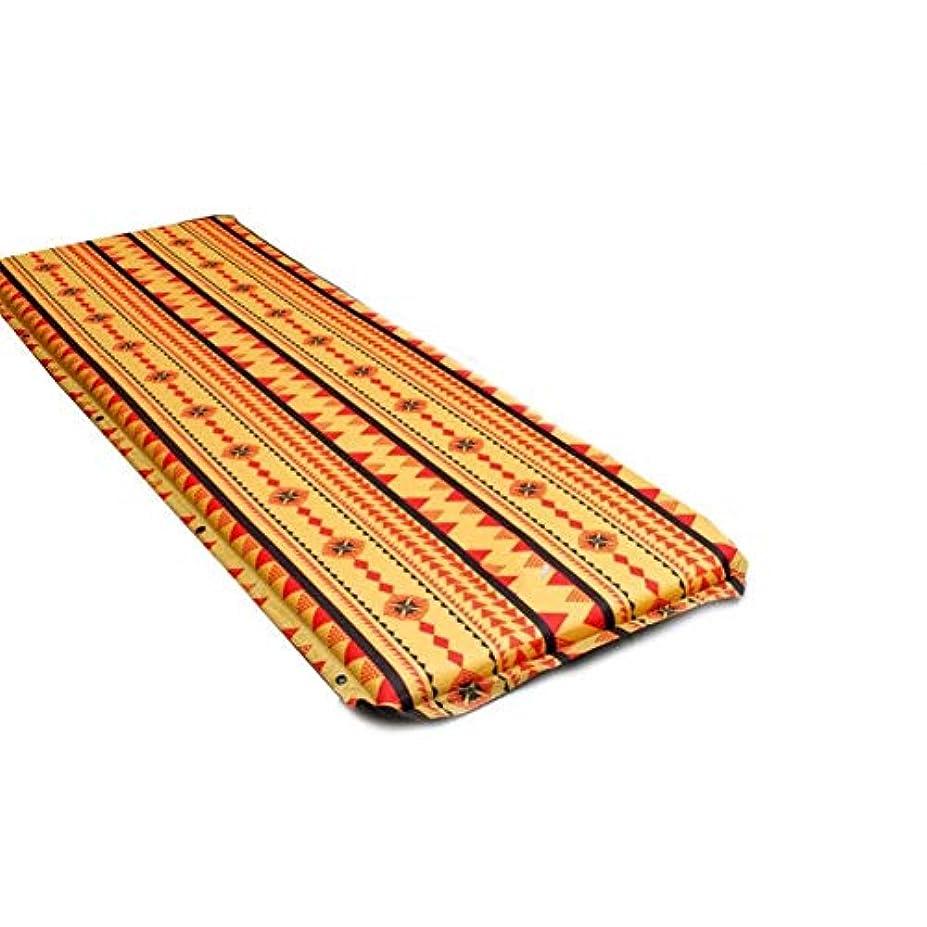 冷蔵庫テラスどこかインフレータブルロールスリーピングパッド、ハイキングバックパッキングのためのキャンプマット防水&涙耐性屋外パッドスリーピングマットレス (色 : オレンジ, サイズ さいず : L l)