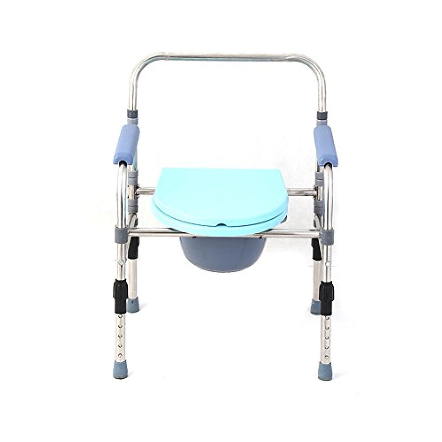 ホーム上流の苦しみ- 便器/トイレ椅子重いアルミニウム合金、セーフティフレームレール付きの医療用品の折りたたみベッドサイド、高級バスケットとスプラッシュガードをシニア向けにアップグレード チェスト