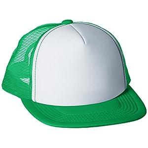 [プリントスター]帽子 イベント メッシュ キャップ 00700-EVM グリーン×ホワイト FREE サイズ
