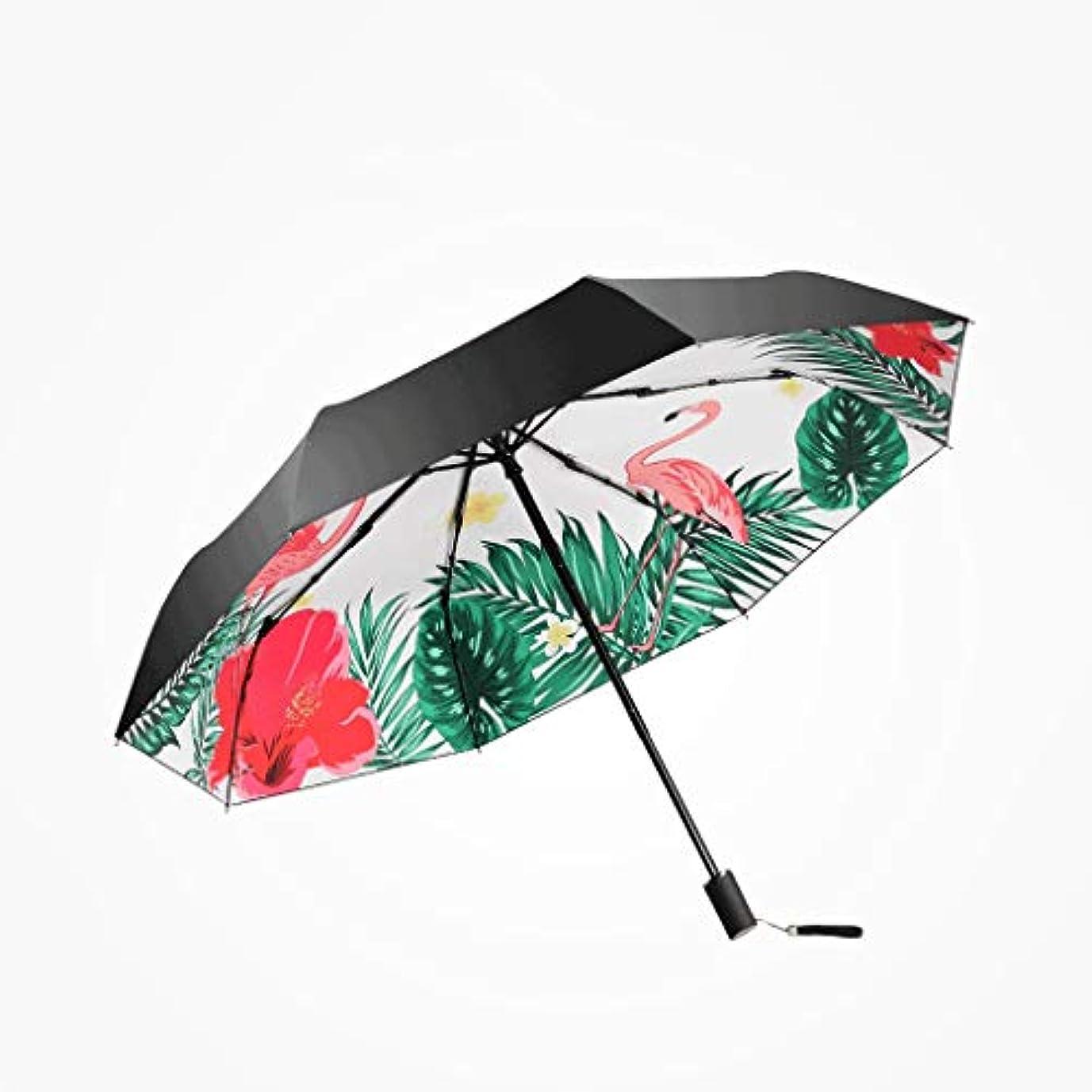 天の広告する変わるPy 傘日傘日焼け止め抗UV女性超軽量小さな折りたたみ傘兼用傘フラミンゴ印刷傘