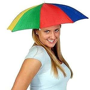 hibote 釣り傘 傘帽子 かぶる傘 釣り用 フィッシング ガーデニング 折り畳み式 レジャーハット 折りたたみ傘帽子 屋外での作業の日差しカット