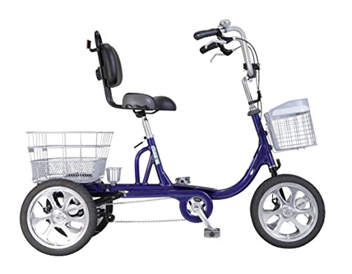 プラステスピアン選出するクークル MII TB-M14B ブルー 高齢者 シニア用四輪自転車 14インチ 完成組立品