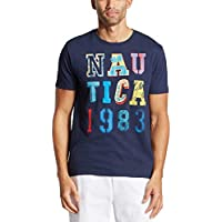 Nautica Men's Short Sleeve Crew Neck Logo 1983 100% Cotton T-Shirt