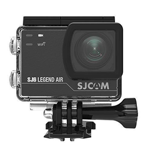 SJCAM正規品 【安心交換付き】 SJ6 Legend Air WIFI 4K スポーツカメラ (追加電池*1/MicroSD 16GB*1同梱) 2.0インチTouch Screen 手ブレ防止 30M防水 166°広角 2017年新品 ウェアラブルカメラ ブラック Black