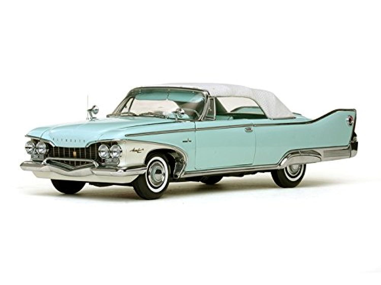 ★ サンスター (1/18) プリムス?フューリー クローズ ンコンバーチブル 1960 (ホワイト/アクアミスト) (5411)車模型