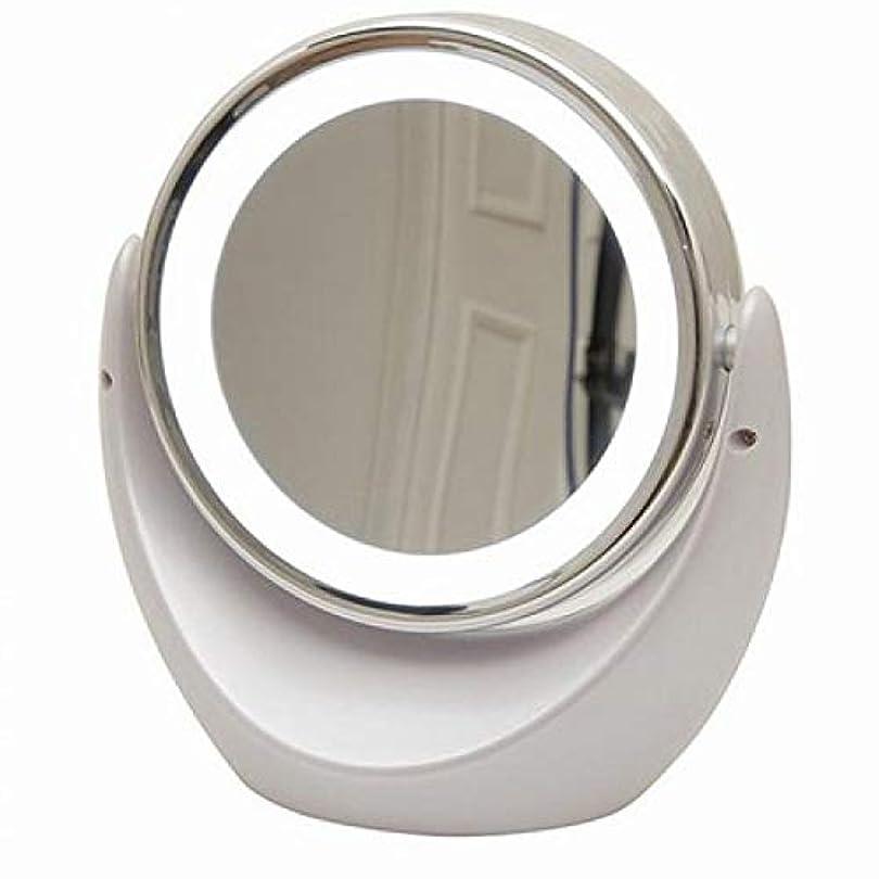 人差し指コーヒーセラフ[キカー] [KIKAR] [LEDライト照明両面化粧鏡 アイメイク 毛穴ケア 拡大鏡] 【1倍/5倍】