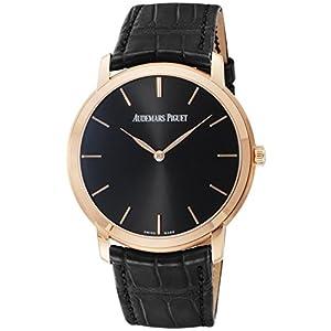 [オーデマ ピゲ]AUDEMARS PIGUET 腕時計 エクストラシン ブラック文字盤 15180OR.OO.A002CR.01 メンズ 【並行輸入品】