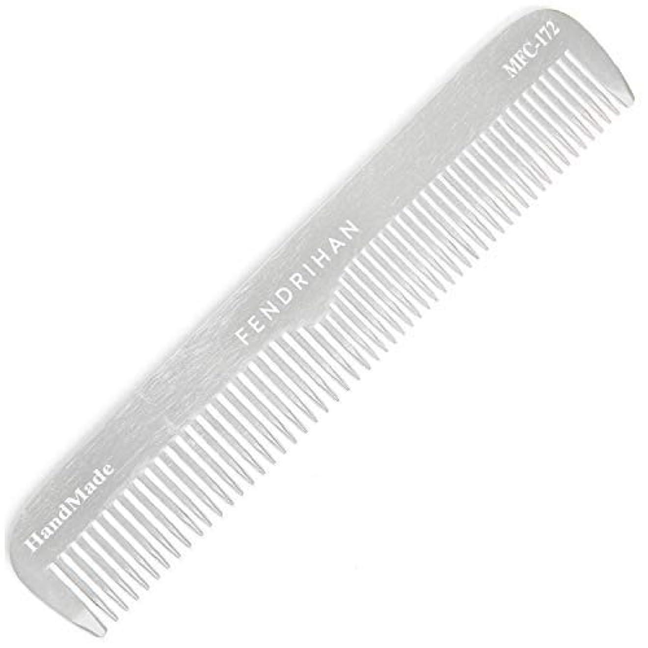 化合物前者航空機Fendrihan Sturdy Metal Fine Tooth Barber Grooming Comb (6.7 Inches) [並行輸入品]