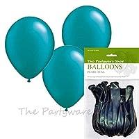 10個のパールティール11インチヘリウム品質のラテックスバルーンのパック-パーティウェアショップのみで製造および販売