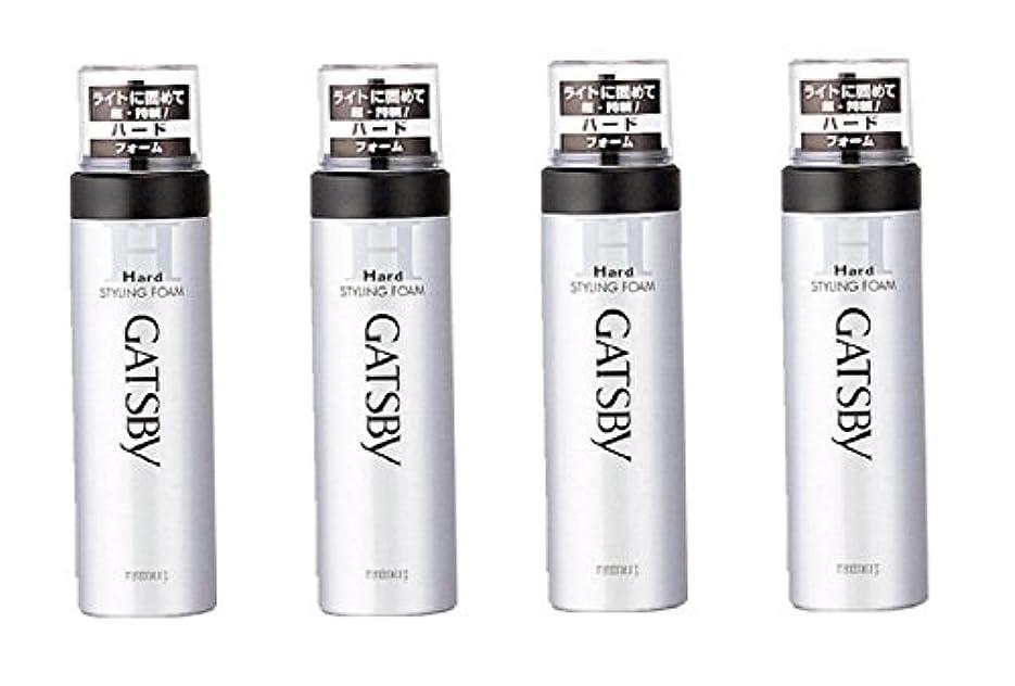 人気の構造バッテリー【まとめ買い】GATSBY (ギャツビー) スタイリングフォーム ハード 185g×4個