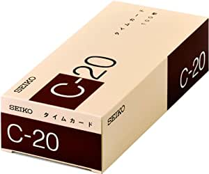 セイコープレシジョン タイムカード C20カード 100枚入 CA-C20