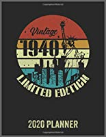Vintage 1940 Limited Edition 2020 Planner: Daily Weekly Planner with Monthly quick-view/over view with 2020 Planner
