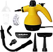 LJJ EEE Handheld Pressurized Steam Cleaner Multi-Purpose with 9-Piece Accessory Kit for Stain Removal, Floor S