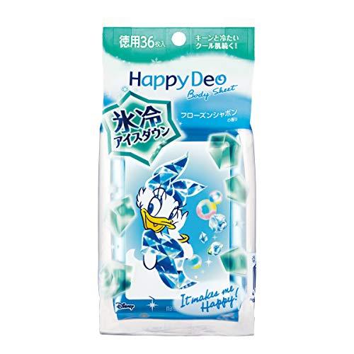 ハッピーデオ ボディシート アイスダウン フローズンシャボン 徳用36枚×2個 マンダム