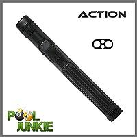 Action Brand ACN22 2X2 Oval Hard Vinyl Pool/Billiard Cue Case - Black
