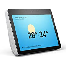 """All-new Echo Show (2nd gen) - Premium sound and a vibrant 10"""" HD screen – Sandstone Fabric"""