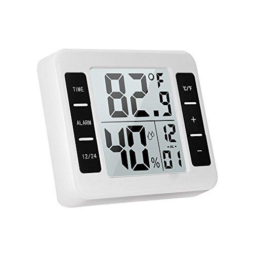 ヤル 改良版 温湿度計デジタル 気温計室内デジタル温湿度計 熱中症計 室外 室内温度計 温度計 湿度計 時計 アラーム 置き時計 気象計 温度湿度時刻表示 家族の健康管理に マグネット付 置掛兼用 卓上 スタンド 敬老の日 子供用 ホーム用