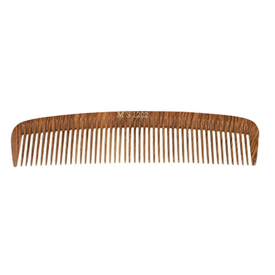 崇拝します言及する寝具Perfk ヘアカットコーム コーム 木製櫛 くし ヘアブラシ ウッド 帯電防止 4タイプ選べる - 1202