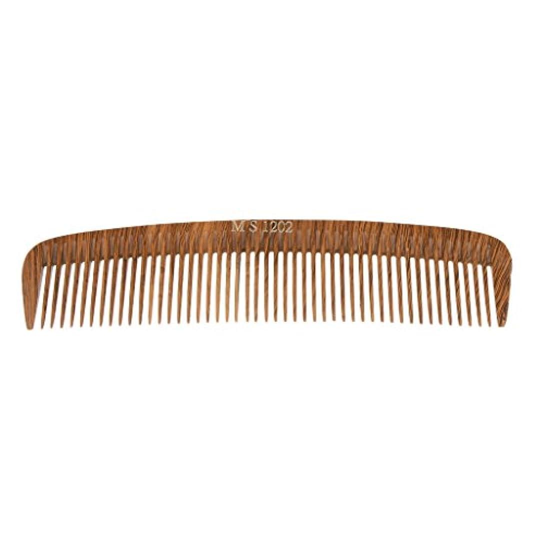 手足急降下緊張するPerfk ヘアカットコーム コーム 木製櫛 くし ヘアブラシ ウッド 帯電防止 4タイプ選べる - 1202
