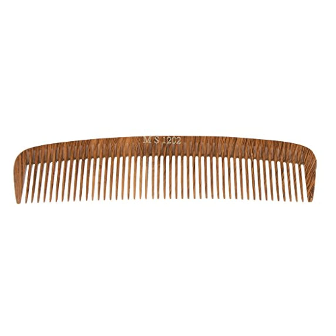 トラブル防止新鮮なPerfk ヘアカットコーム コーム 木製櫛 くし ヘアブラシ ウッド 帯電防止 4タイプ選べる - 1202