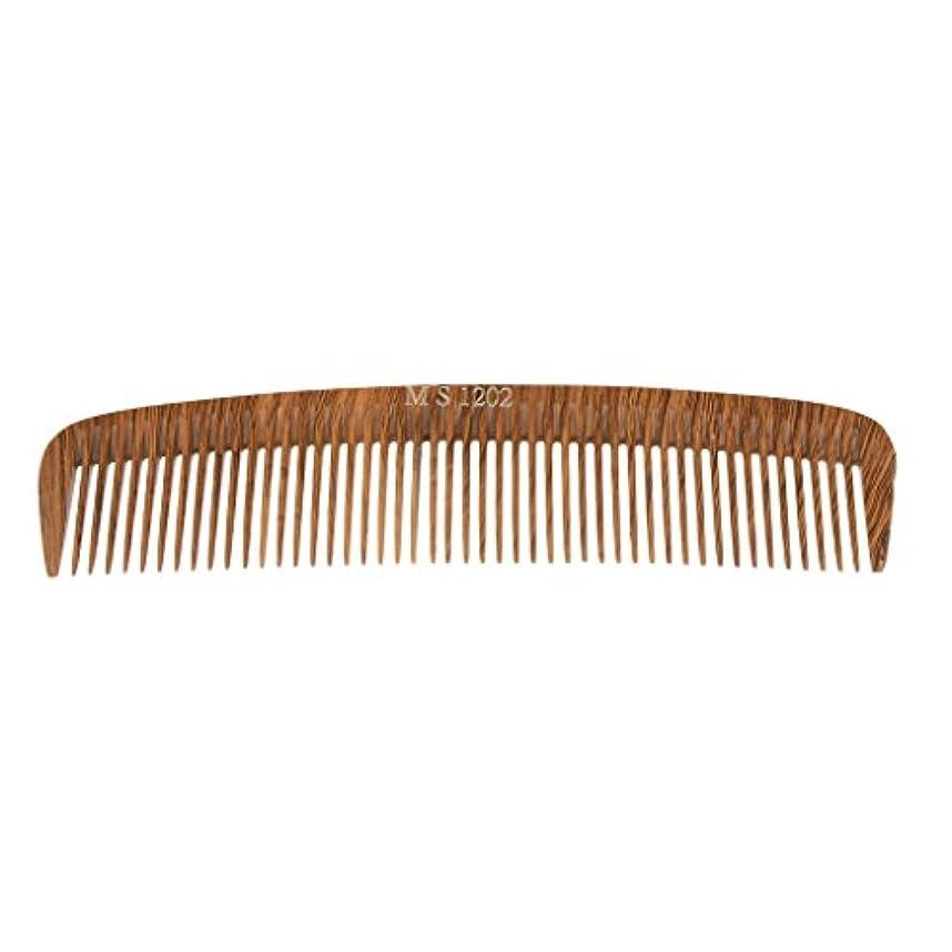 無意識のために生理Perfk ヘアカットコーム コーム 木製櫛 くし ヘアブラシ ウッド 帯電防止 4タイプ選べる - 1202