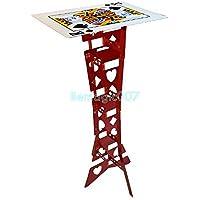 フォールディングテーブル 赤 カード表面 Aluminum folding table magic (Red, poker table)-- ステージマジック