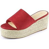 Allegra K Women's Flatform Espadrille Platform Slide Sandals