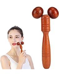 美顔 マッサージローラー 木製 マッサージ棒 官足棒 グリグリ棒 押し棒 フェイシャルマッサージローラ Wood Roller Spa Therapy Thai Wooden Massager Stick Thin Face...