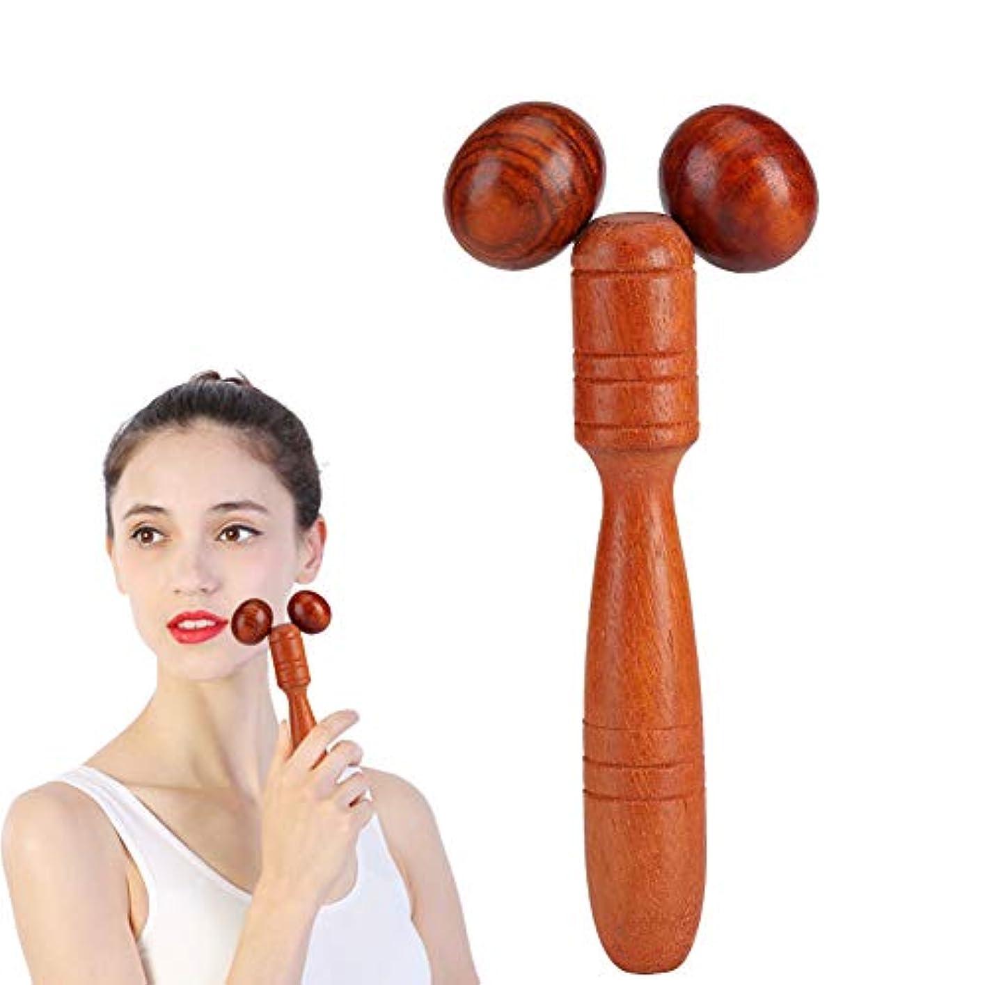 クレアコマース発送美顔 マッサージローラー 木製 マッサージ棒 官足棒 グリグリ棒 押し棒 フェイシャルマッサージローラ Wood Roller Spa Therapy Thai Wooden Massager Stick Thin Face Hand Leg Head Neck Back Waist Face-Lift Massage tool