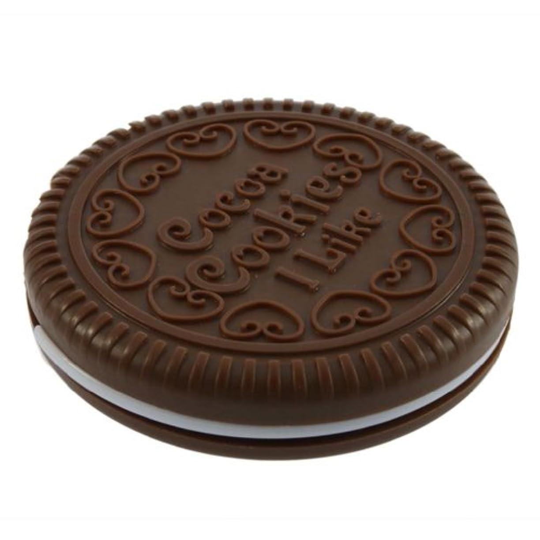 配管粘性の実現可能性SODIAL ポータブルな可愛いなチョコレートクッキーの形のミラー+くし レディー ガール